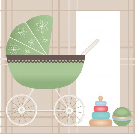 Baby card Stock Vector - 16007847