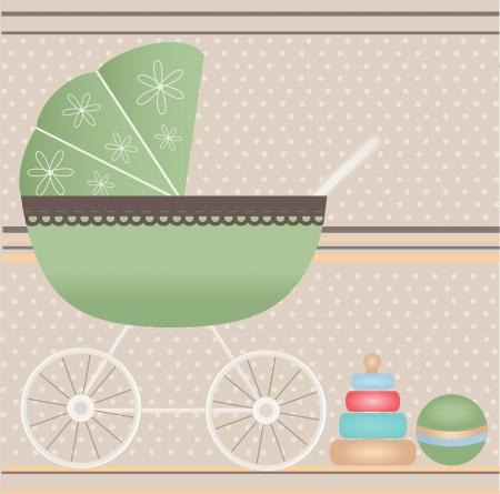 congratulating: Baby card Illustration