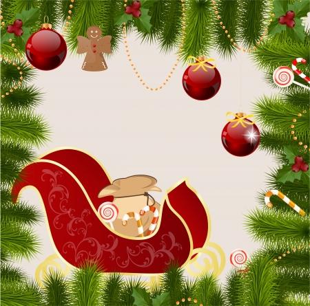 Christmas greeting card Stock Vector - 16007858