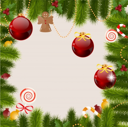 new year  s day: Christmas greeting card