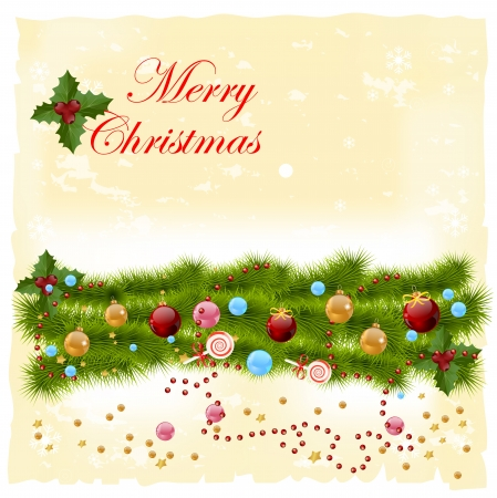 pine cone: Christmas greeting card