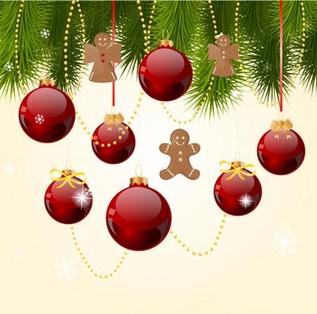 december: Tarjeta de felicitaci�n de la Navidad