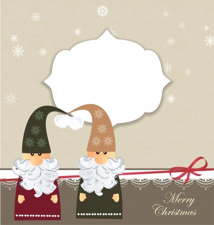 enano: Tarjeta de Navidad