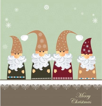 gnome: Christmas card