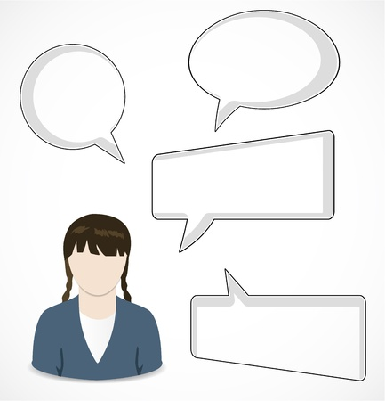 Woman and speech bubbles Stock Vector - 16247464