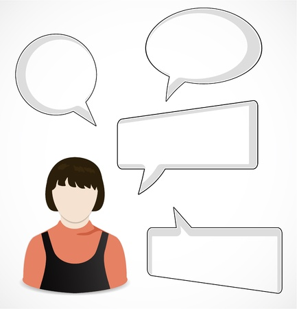 Woman and speech bubbles Stock Vector - 16247447