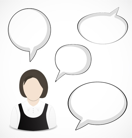 Woman and speech bubbles Stock Vector - 16247458