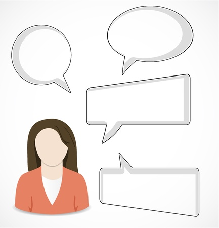 Woman and speech bubbles Stock Vector - 16247448