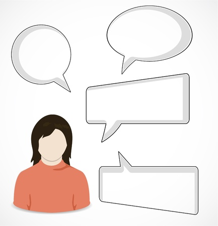 Woman and speech bubbles Stock Vector - 16247457
