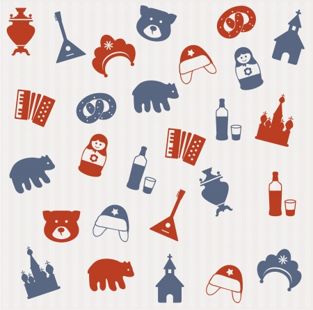 moscow: Russian seamless pattern