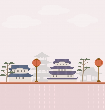 japanese temple: Asian background