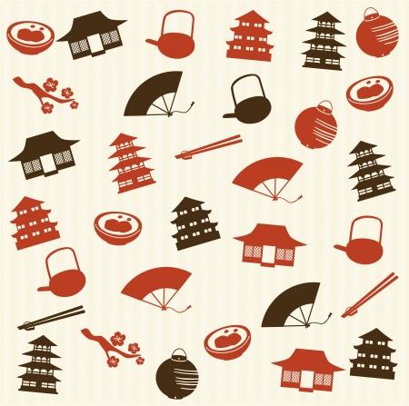日本料理: 日本シームレス パターン 2