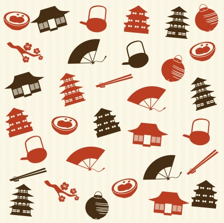 Japanese seamless pattern 2 Vector