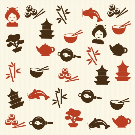 cuisine:  Japanese seamless pattern