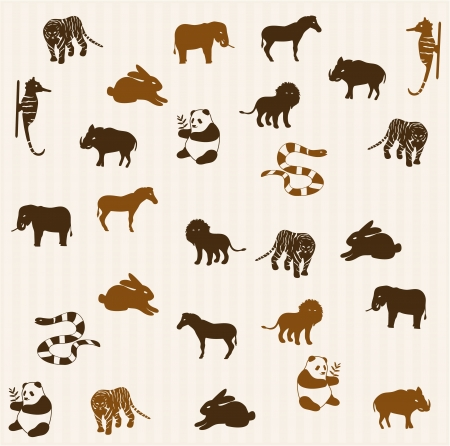Animal seamless pattern 3 Vector