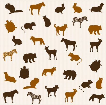 animal themes: Animal seamless pattern Illustration