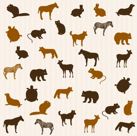 bear silhouette: Animali senza soluzione di modello
