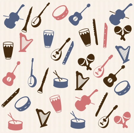 Music elements seamless pattern Stock Vector - 16378711