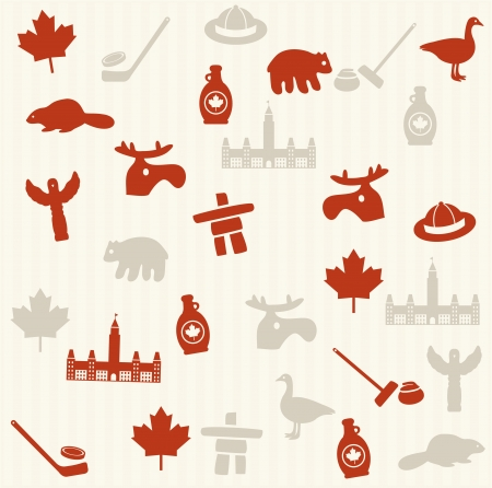 canada goose: Canadian seamless pattern Illustration
