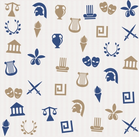 ancient greek: Greek seamless pattern