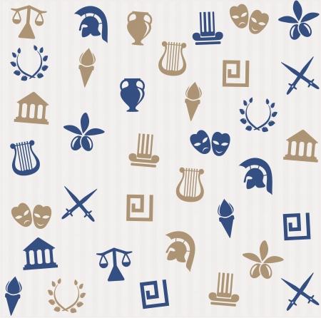 sparta: Griechische seamless pattern Illustration