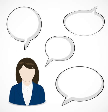 Woman and speech bubbles Stock Vector - 16584366