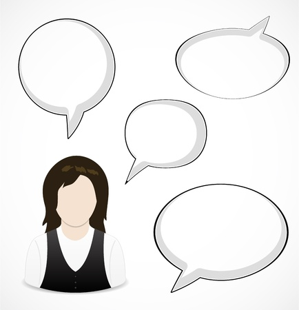 Woman and speech bubbles Stock Vector - 16584369