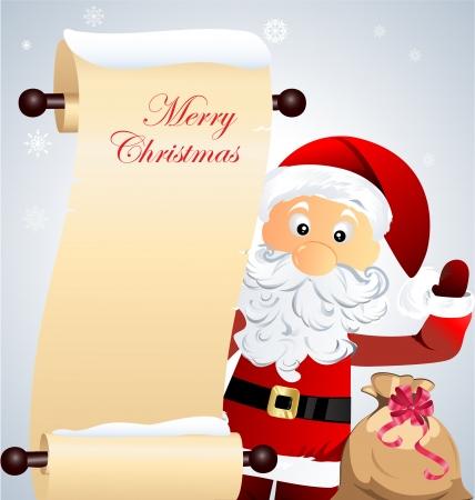 letter from santa: Christmas card