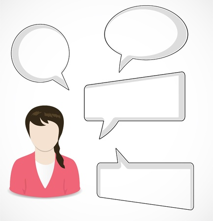 Woman and speech bubbles Stock Vector - 16660218