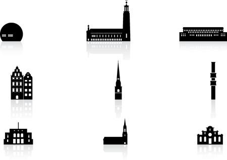 Landmark icons - Sztokholm