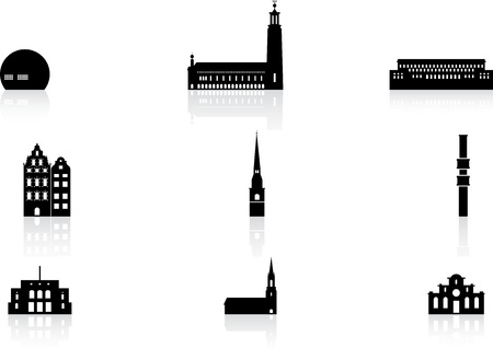 Landmark pictogrammen - Stockholm