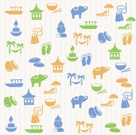 bangkok: Thai seamless pattern Illustration
