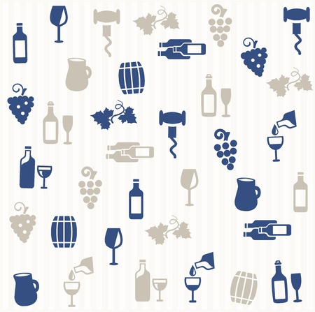 Wine seamless pattern Vector