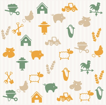 Agriculture seamless pattern Stock Vector - 16660272