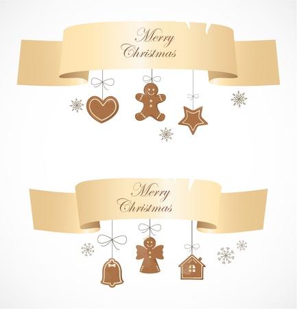 christmas cracker: Christmas banners Illustration