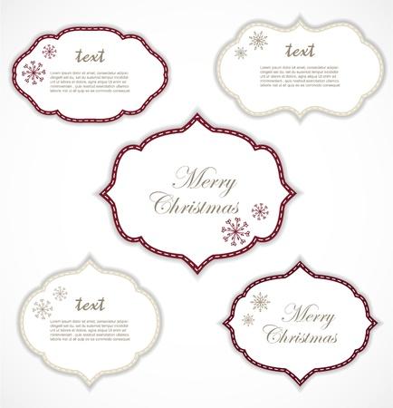 Christmas frames Stock Vector - 16690672