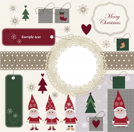 Christmas scrapbook Stock Vector - 16720529
