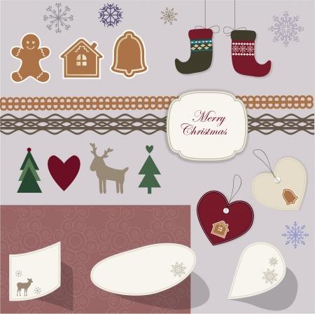 Christmas scrapbook Stock Vector - 16720513