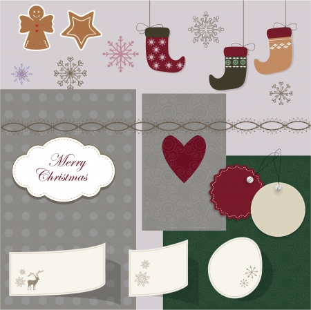 Christmas scrapbook Stock Vector - 16720525