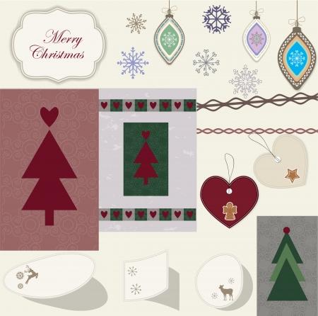 Christmas scrapbook Stock Vector - 16720527