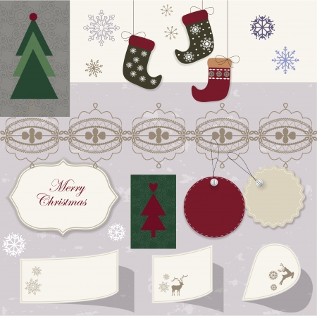 Christmas scrapbook Stock Vector - 16720524