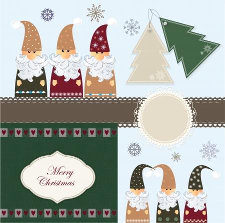 dwarves: Christmas scrapbook Illustration