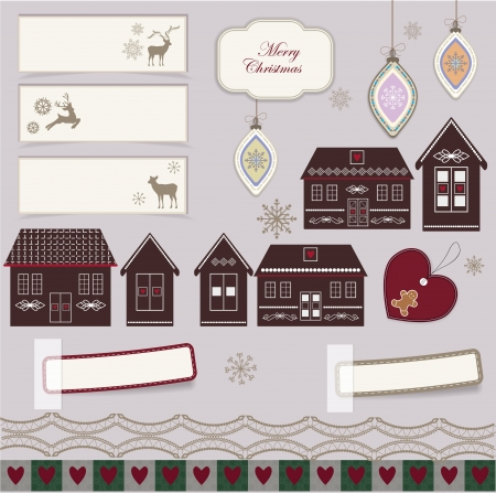 Christmas scrapbook Illustration