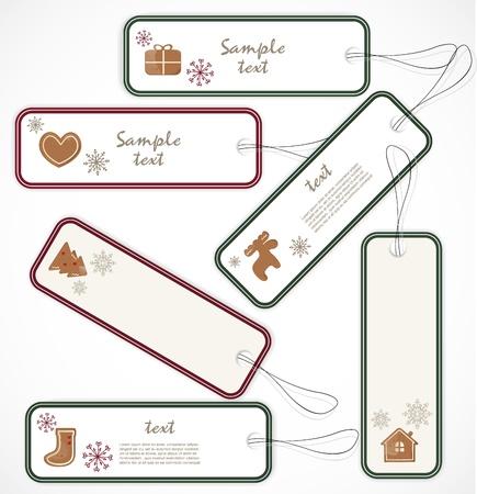 Christmas tags Stock Vector - 16720516