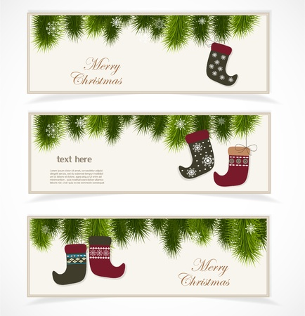 Merry Christmas banner Stock Vector - 16761465