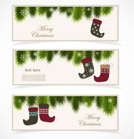 Merry Christmas banner Stock Vector - 16761465