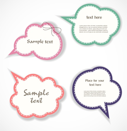 communicate: Speech bubbles Illustration