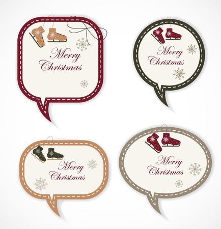 Christmas  speech bubbles Stock Vector - 16927939