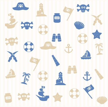 Pirate seamless pattern Stock Vector - 16965838