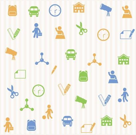 elementary age: School seamless pattern Illustration